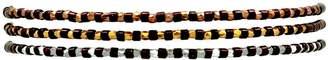 LeJu London Slinky Set Of Three Bracelets In Burgundy