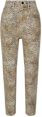 Alexander Wang Cropped Cheetah Print Jeans