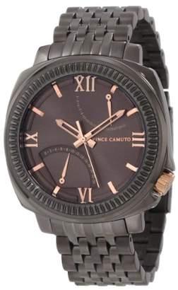 Vince Camuto Men's VC/1002GNDG The Veteran Gunmetal Dial Date Function Rosegold-Tone Bracelet Watch