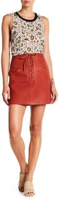 A.L.C. Naomi Leather Skirt