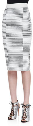 A.L.C. Lyons Striped Ponte Pencil Skirt