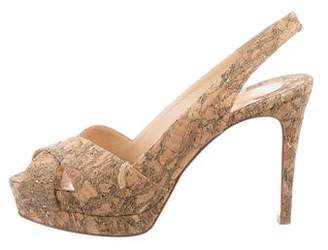 Christian Louboutin Soso Cork Sandals