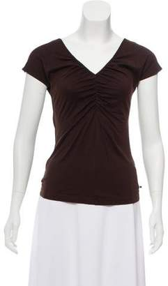 Akris Punto Scrunched V-Neck Top