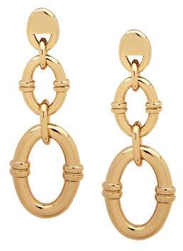Ralph Lauren Linked-Hoop Linear Drop Earrings