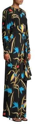 Diane von Furstenberg Silk-Blend Tie Front Jumpsuit