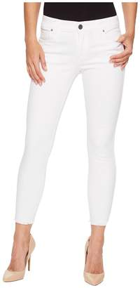 KUT from the Kloth Connie Ankle Skinny Fray Hem in Optic White Women's Jeans