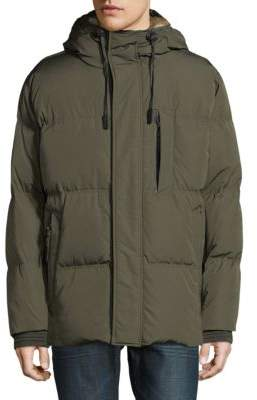 Andrew Marc Ascent Hooded Faux Fur Parka