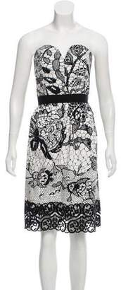 Behnaz Sarafpour Strapless Mini Dress
