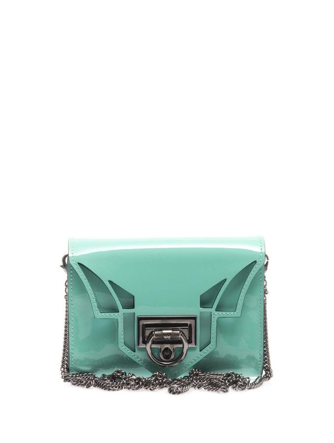 Hudson Reece Rider mini patent leather clutch