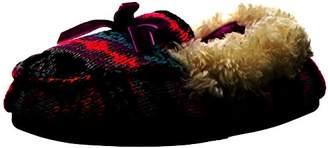 Dearfoams Girls' Patterned Sweater Knit Moc