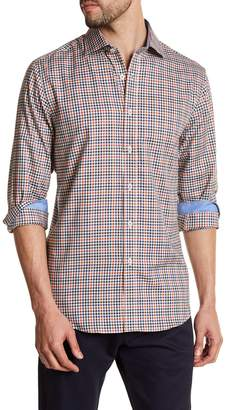 James Tattersall Classic Fit Windowpane Shirt