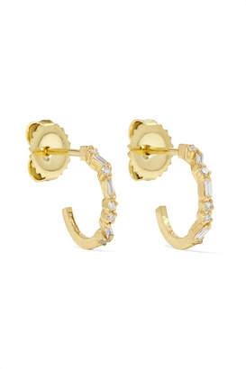 Suzanne Kalan 18-karat Gold Diamond Hoops Earrings