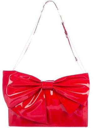 Valentino Patent Leather Bow Bag