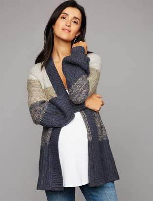 A Pea in the Pod Luxe Essentials Denim Balloon Sleeve Maternity Cardigan