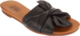 Miz Mooz Leather Knot Detail Slide Sandals - Angelina