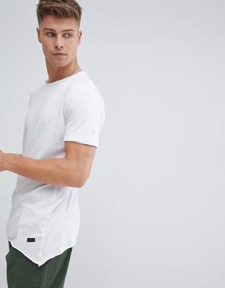 Produkt Longline T-Shirt With Raw Asymmetric Hem
