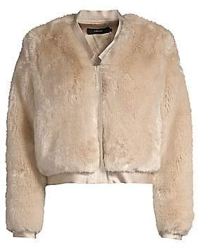 J Brand Women's Ashbey Faux Fur Jacket