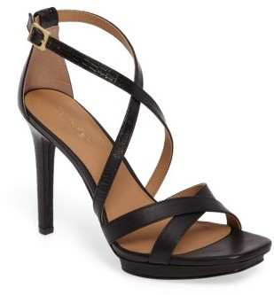 Women's Calvin Klein Vonnie Cross Strap Sandal $119.95 thestylecure.com
