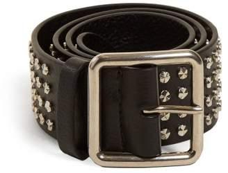 Alexander McQueen Studded Leather Belt - Womens - Black