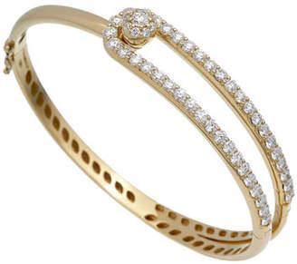 anima ISTANBOULLI GIOIELLI 18k Flexible Looped Diamond Bangle