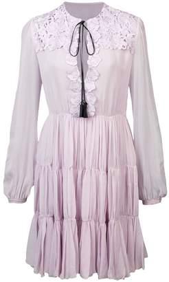 Giambattista Valli floral crochet appliqué dress