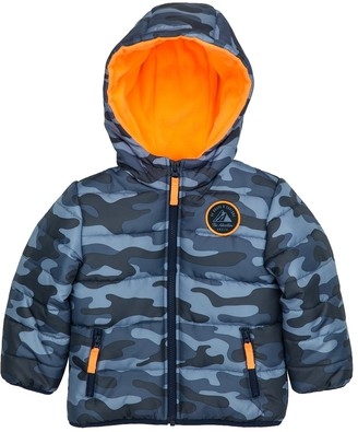 Carter's Baby Boy Quilted Camo Hooded Heavyweight Jacket