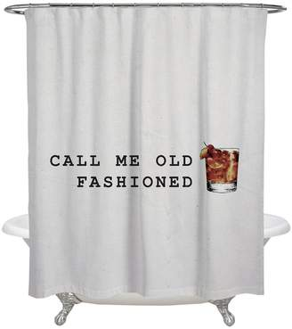 Oliver Gal Mr. Old Fashioned Shower Curtain