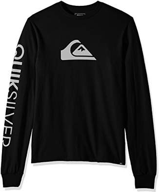 Quiksilver Men's Mountain and Wave Logo Long Sleeve Tee