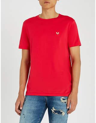 True Religion Logo-plaque cotton-jersey T-shirt
