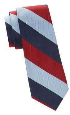 Saks Fifth Avenue Diagonal Stripe Silk Tie