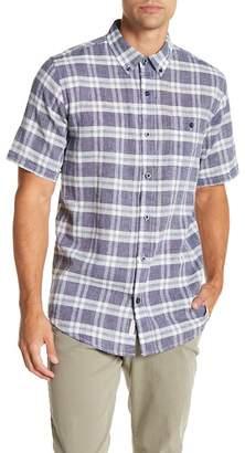 Weatherproof Short Sleeve Plaid Print Regular Fit Woven Shirt