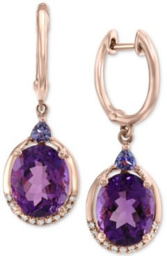 Effy Multi-Gemstone (5-3/4 ct. t.w.) & Diamond Accent Drop Earrings in 14k Rose Gold