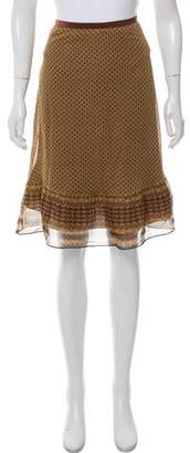 Miguelina Printed Knee-Length Skirt