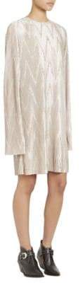 Givenchy Women's Zig Zag Pleated Dress - Silver - Size 38 (6)