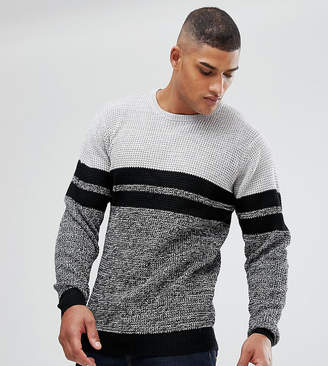 Jacamo TALL Long Sleeve Top With Twist Detail In Gray