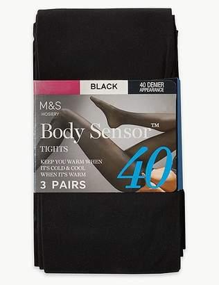 "Marks and Spencer 3 Pair Pack 40 Denier Body Sensorâ""¢ Tights"