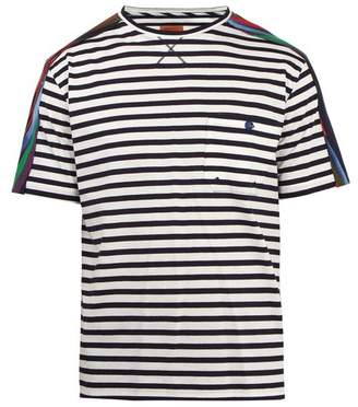 Missoni Mare - Striped Cotton T Shirt - Mens - White Multi