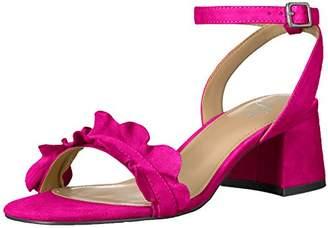 The Fix Women's Lizzie Block Heel Ruffled Sandal Heeled