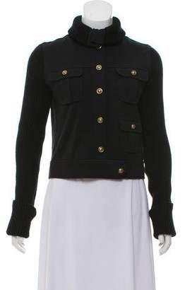 Tory Burch Rib Knit Trim Jacket