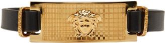 Versace Black & Gold Medusa Bracelet $625 thestylecure.com