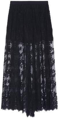 Elie Saab Maxi Lace Skirt