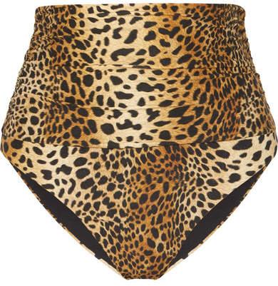 Buy Lyon Leopard-print Bikini Briefs - Tan!