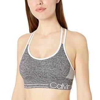 Calvin Klein Women's Ruched Front Strappy Sports Bra