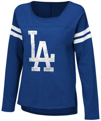 Touch by Alyssa Milano Women Los Angeles Dodgers Free Agent Long Sleeve T-Shirt