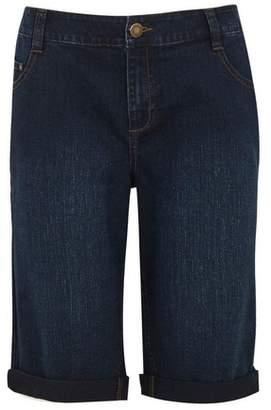 Evans Indigo Denim Shorts