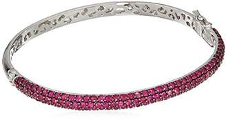 Effy Womens 925 Sterling Silver Ruby Bangle Bracelet