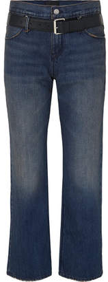 RtA Dexter Belted High-rise Straight-leg Jeans - Dark denim