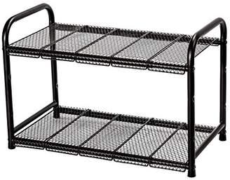 STORAGE MANIAC Under Sink 2 Tier Adjustable(Width&Height) Shelf Organizer 10 Removable Steel Panels