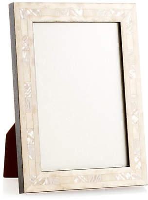 One Kings Lane Opalescent Wedding Frame - 5x7 - Ivory