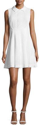 Emporio Armani Sleeveless Eyelet Lace Fit-and-Flare Dress